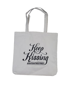 """Keep Kissing #BOYSINTHESTREET"" Tote Bag"