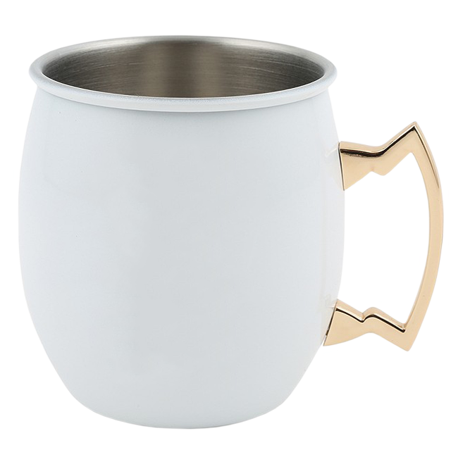 White Enamel Coated Mule Mugs
