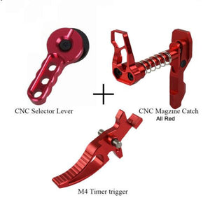 CNC Airsoft/Gelsoft  Selector Lever trigger  Magazine Release Catch for M4/M16 Series kit