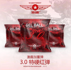 3Pag 30000pc LDT warinterest heavy red gel ball