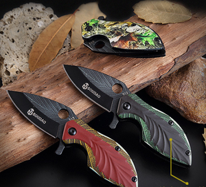 Tactical knife hunting knife leaf modle knife