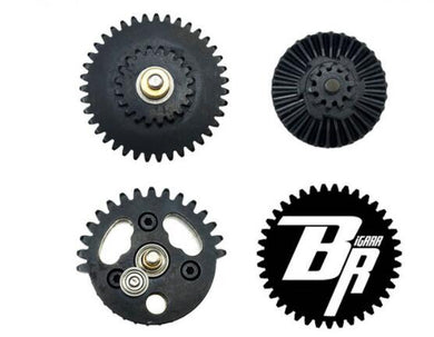 BIGRRR steel cut CNC Gear set with integrated bearings 13:1/16:1/18:1 gel blaster upgrade