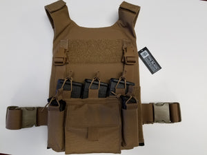 Hard Plate or Soft Armor Covert Carrier Tweave Fabric [Carrier Only]