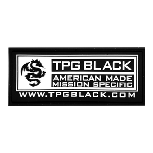 TPG BLACK™ Logo PVC Patch