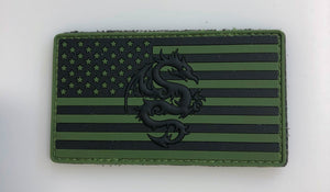 TPG BLACK GREEN PVC PATCH
