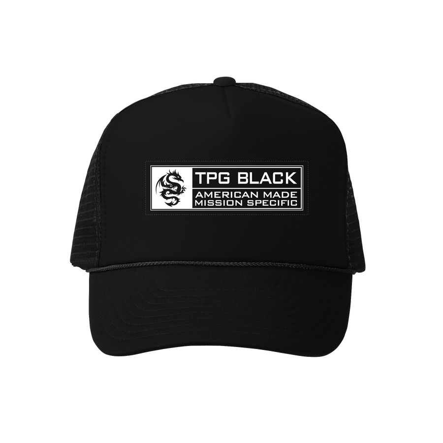 TPG BLACK™ Snapback Trucker Hat