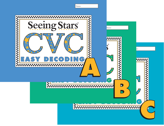 Seeing Stars® Easy CVC Workbooks