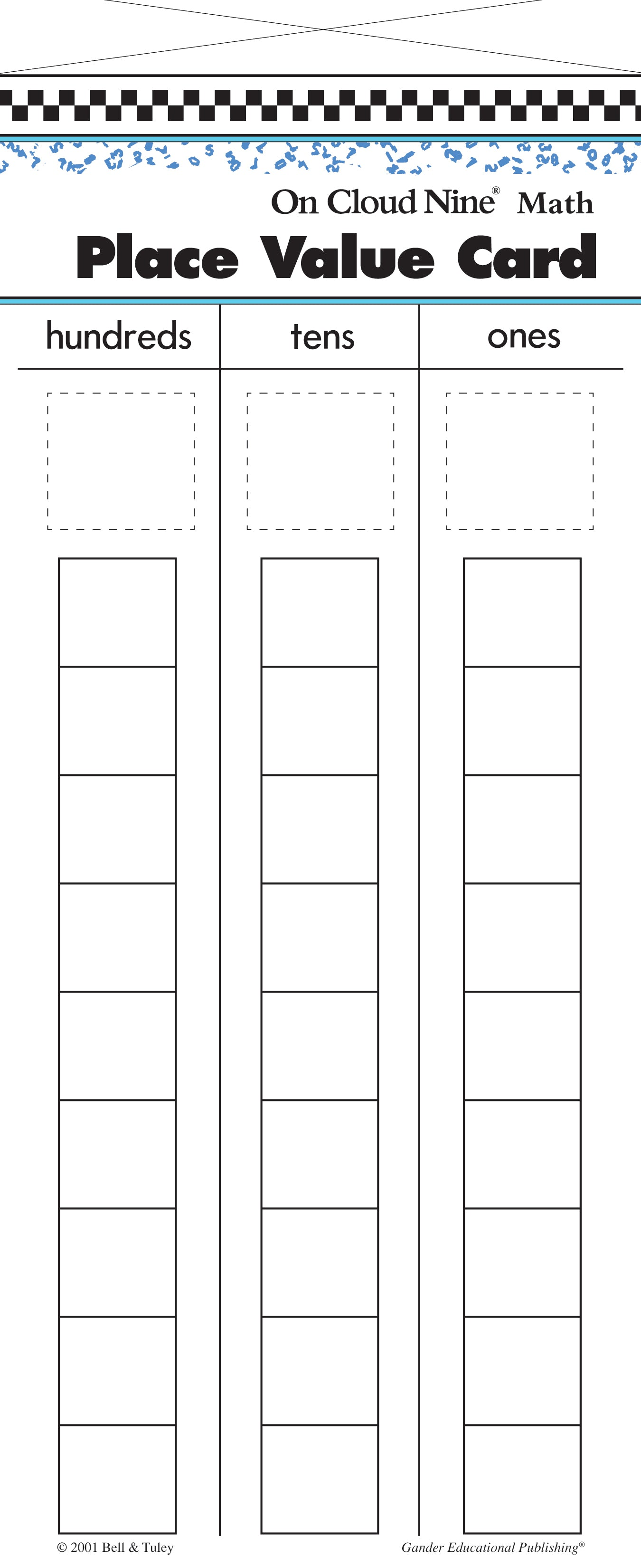 On Cloud Nine® Place Value Cards