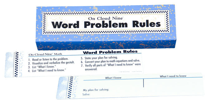 On Cloud Nine® Word Problem Rules
