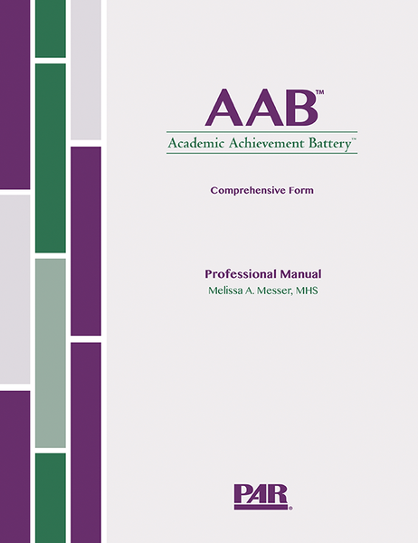 Academic Achievement Battery (AAB) Comprehensive Form