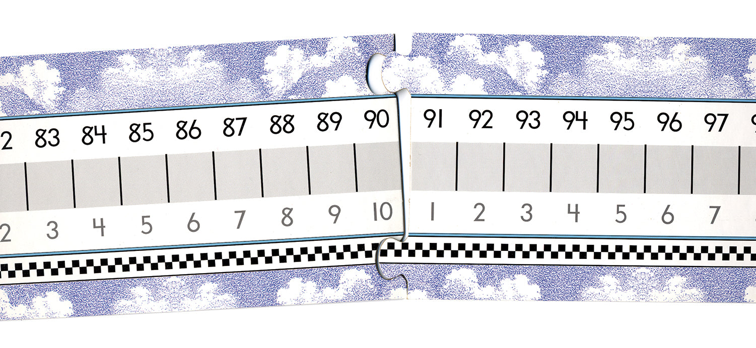 On Cloud Nine® Number Line - Cardboard