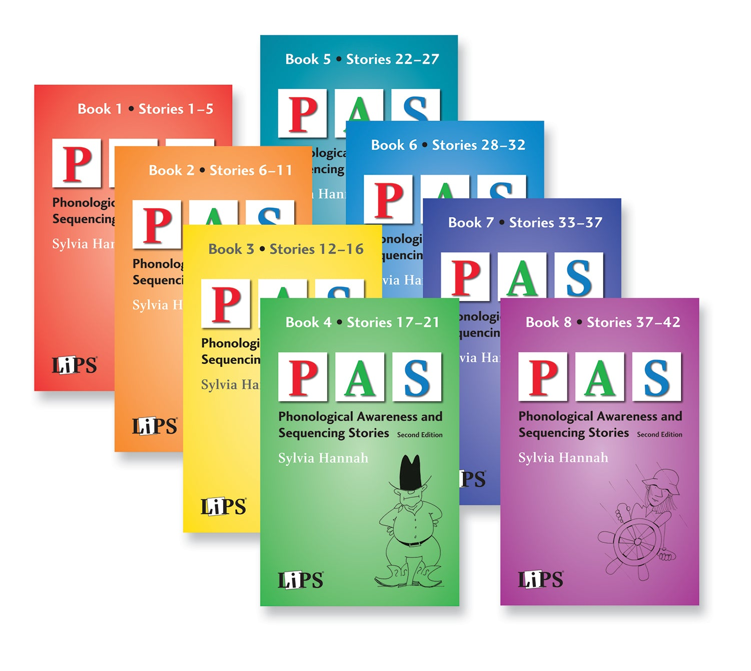 Phonological Awareness and Sequencing (PAS) Stories: Set of 8 Books