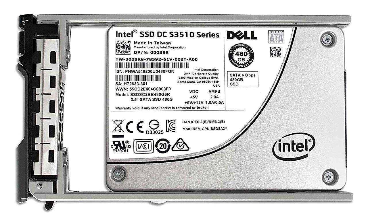 "Dell G13 008R8 480GB SATA 6Gb/s 2.5"" AES Manufacturer Recertified SSD"