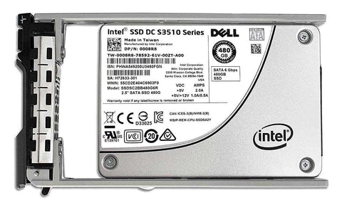 "Dell G13 008R8 480GB SATA 6Gb/s 2.5"" AES Solid State Drive"