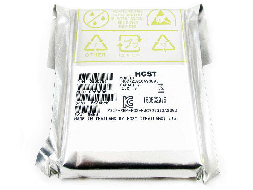 "HGST Ultrastar C7K1000 HUC721010ASS600 0B30780 1TB 7.2K RPM SAS 6Gb/s 64MB 2.5"" Manufacturer Recertified HDD"