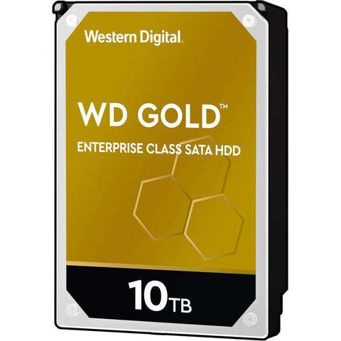 "Western Digital Gold WD102KRYZ 10TB 7.2K RPM SATA 6Gb/s 512e 256MB 3.5"" Hard Drive"