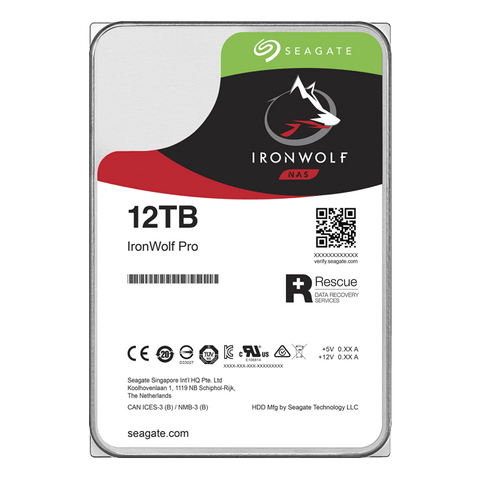 Seagate IronWolf Pro ST12000NE0008 12TB 7.2K RPM SATA 6GB/s 512e 3.5in Hard Drive