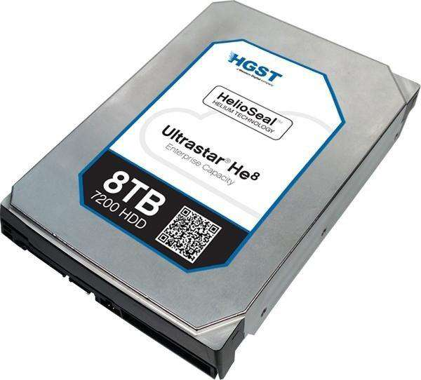 "HGST Ultrastar He10 0F27505 HUH721008ALN600 8TB 7.2K RPM SATA 6Gb/s 4Kn 256MB Cache 3.5"" ISE Power Disable Pin HDD"