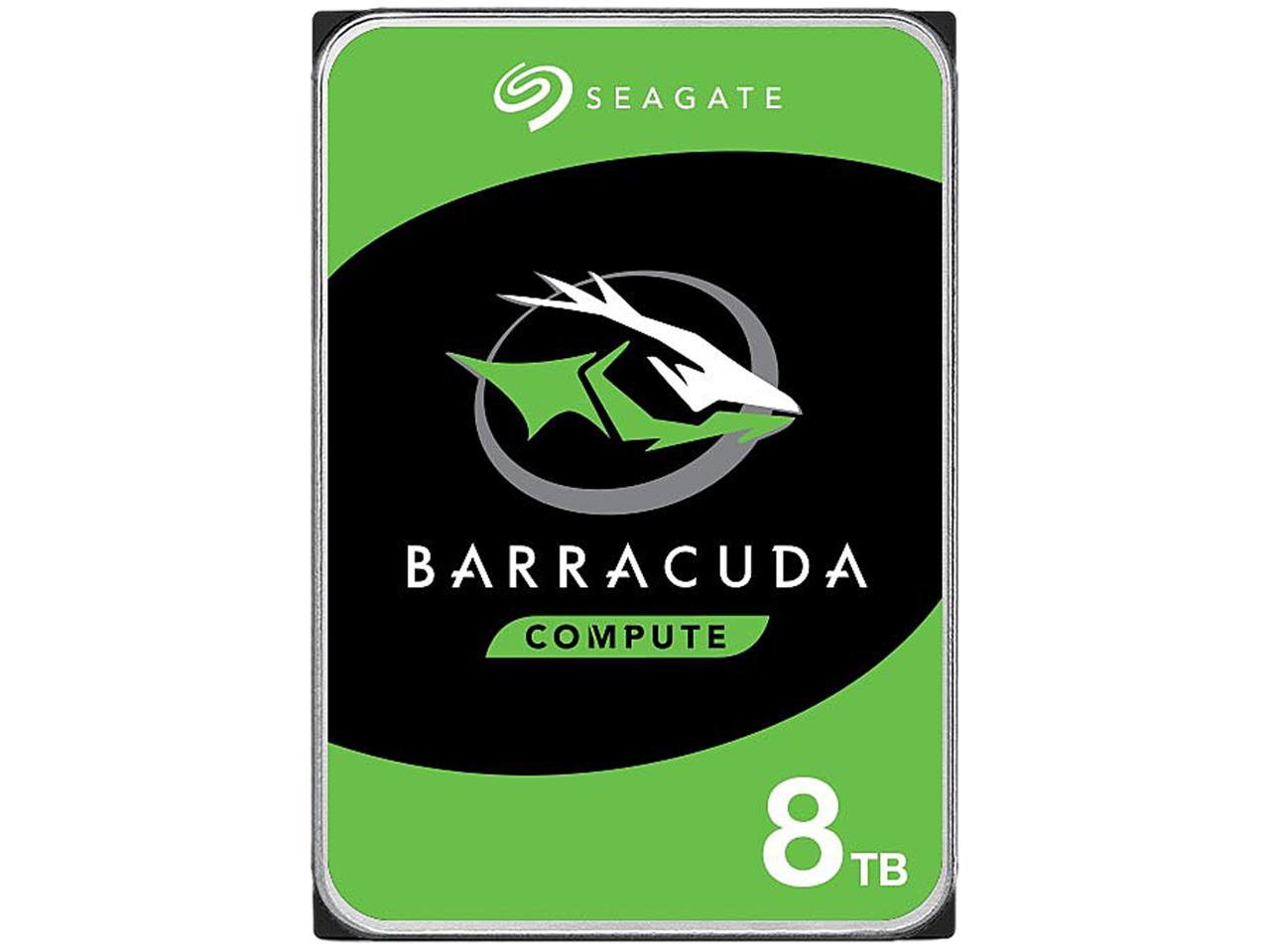 "Seagate Barracuda ST8000DM004 8TB 5.4K RPM SATA 6Gb/s 256MB 3.5"" Manufacturer Recertified HDD"