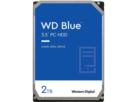 "Western Digital Blue WD20EZAZ 2TB 5.4K RPM SATA 6Gb/s 512e 256MB 3.5"" Manufacturer Recertified HDD"