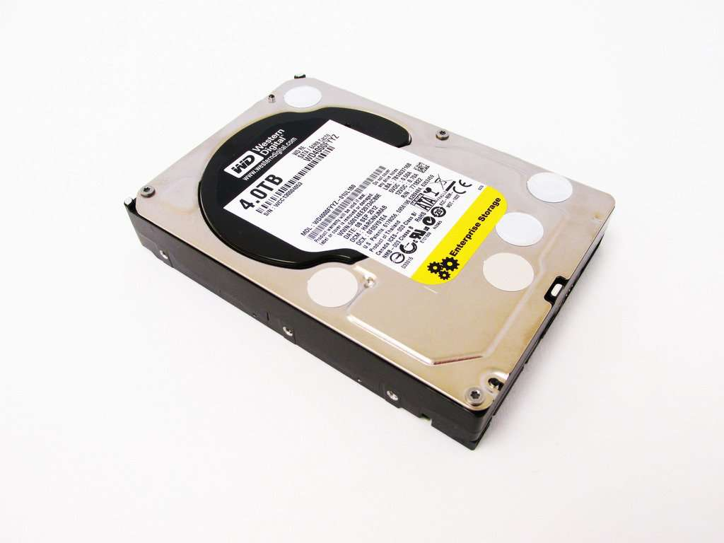 "Western Digital Re WD4000FYYZ 4TB 7.2K RPM SATA-6Gb/s 64MB 3.5"" Hard Disk Drive"
