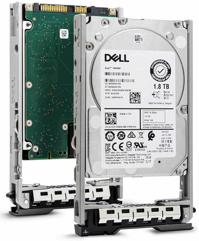 "Dell G13 00VPTJ 1.8TB 10K RPM SAS 6Gb/s 512e 2.5"" Hard Drive"