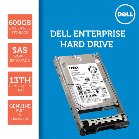 "Dell G13 V5300 600GB 15K RPM SAS 12Gb/s 512n 2.5"" Hard Drive"