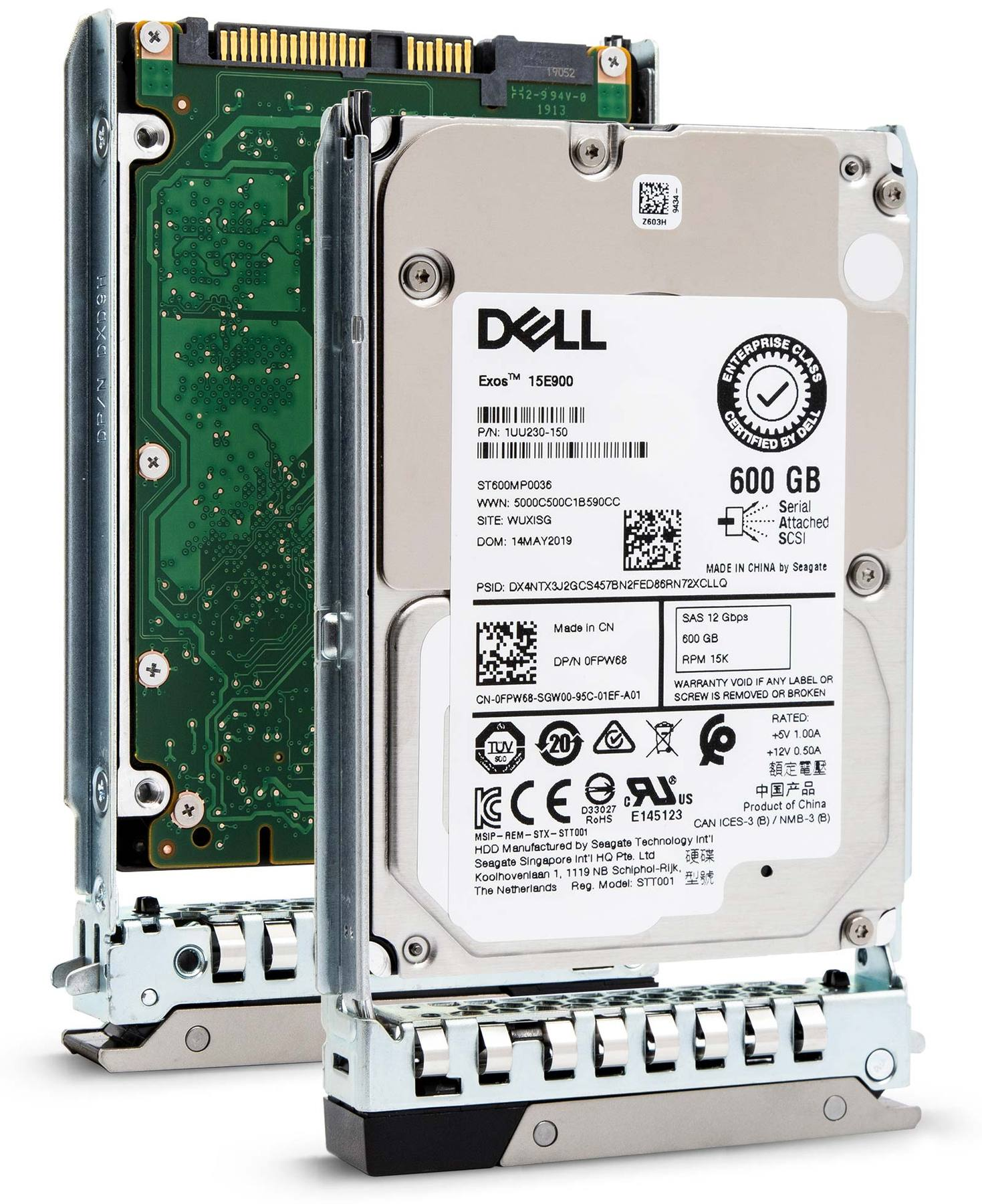 "Dell G14 400-ATIN 600GB 15K RPM SAS 12Gb/s 512n 2.5"" Hard Drive"