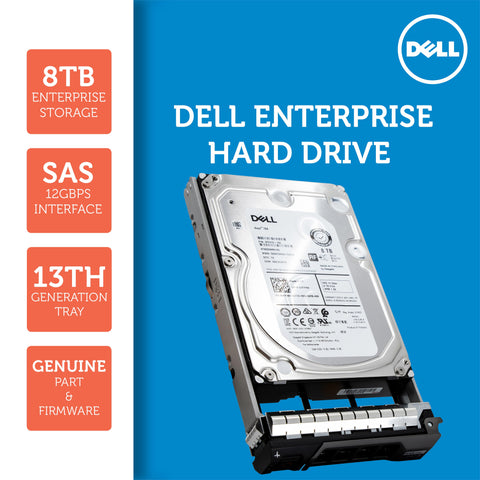 "Dell G13 0221N1 8TB 7.2K RPM SAS 12Gb/s 512e 3.5"" NearLine Hard Drive"