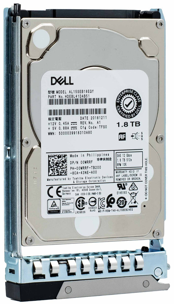 "Dell G14 400-ARXC 1.8TB 10K RPM SATA 12Gb/s 512e 2.5"" Hard Drive"