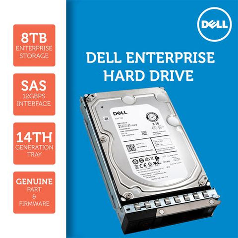 "Dell G14 400-AUXC 8TB 7.2K RPM SAS 12Gb/s 512e 3.5"" NearLine Hard Drive"