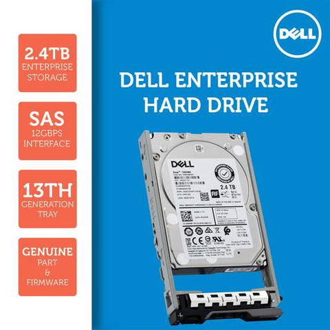"Dell G13 400-AVBX 2.4TB 10K RPM SAS 12Gb/s 512e 2.5"" Hard Drive"