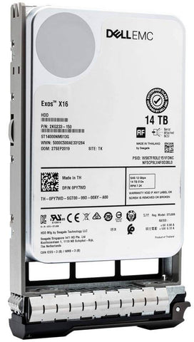 "Dell G13 400-BEIK 14TB 7.2K RPM SAS 12Gb/s 512e 3.5"" Hard Drive"