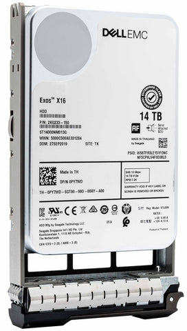 "Dell G13 400-BFWT 14TB 7.2K RPM SAS 12Gb/s 512e 3.5"" Hard Drive"