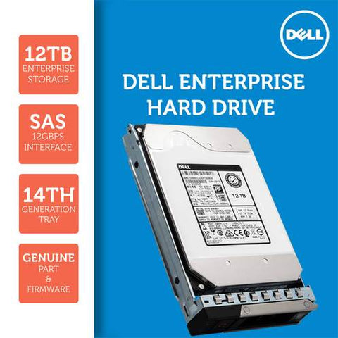 "Dell G14 400-AWYG 12TB 7.2K RPM SAS 12Gb/s 512e 3.5"" NearLine Hard Drive"