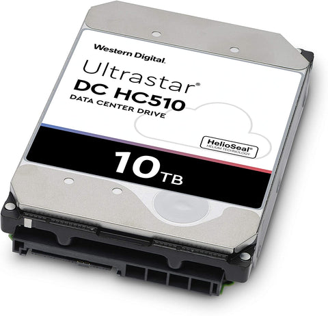 "Western Digital Ultrastar DC HC510 HUH721010ALE600 0F27477 10TB 7.2K RPM SATA 6Gb/s 512e 256MB 3.5"" ISE Power Disable Pin Manufacturer Recertified HDD"
