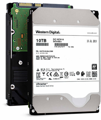 "Western Digital Ultrastar DC HC510 HUH721010ALE600 0F27477 10TB 7.2K RPM SATA 6Gb/s 512e 256MB 3.5"" ISE Power Disable Pin Hard Drive"