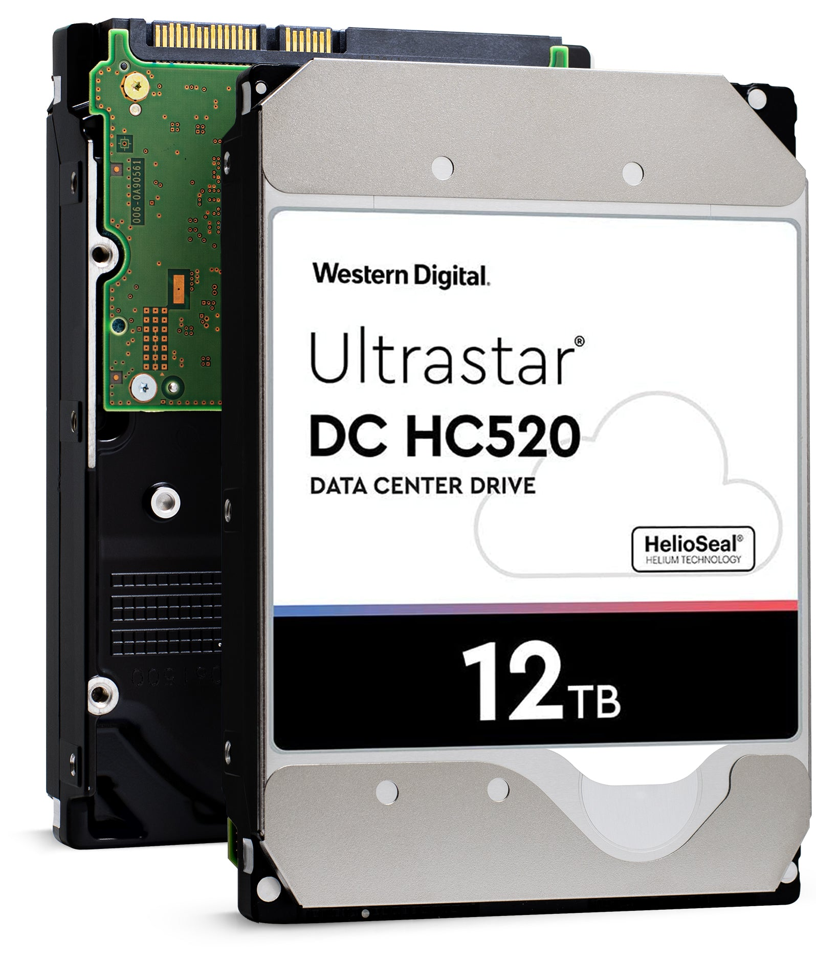 "Western Digital Ultrastar DC HC520 HUH721212ALE600 0F29590 12TB 7.2K RPM SATA 6Gb/s 512e 256MB 3.5"" ISE Power Disable Pin Manufacturer Recertified HDD"