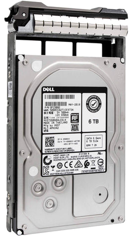 "Dell G13 FY91T 6TB 7.2K RPM SATA 6Gb/s 512e 3.5"" Hard Drive"