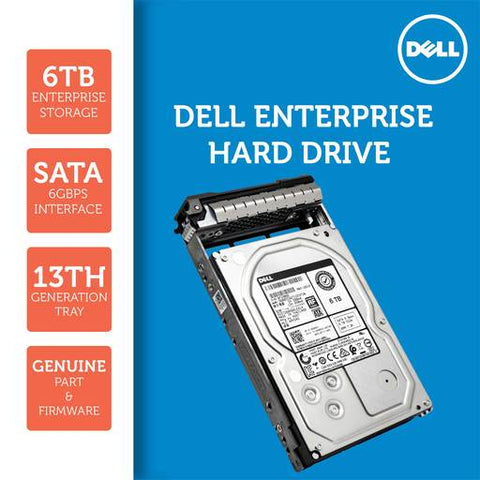 "Dell G13 8Y07Y 6TB 7.2K RPM SATA 6Gb/s 512e 3.5"" Hard Drive"