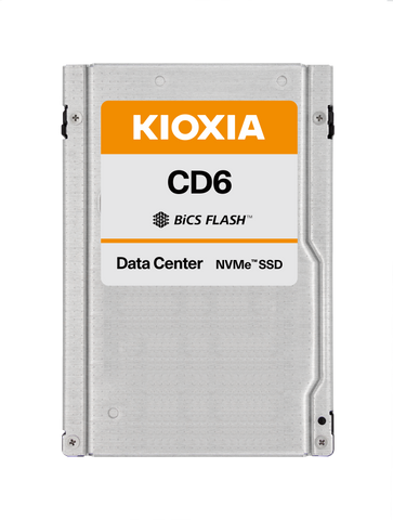 "Kioxia CD6 KCD61LUL960G 960GB PCIe Gen4.0 x4 8GB/s 2.5"" Read Intensive Solid State Drive"
