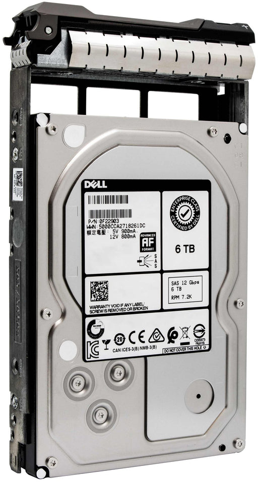 "Dell G13 0NWCCG 6TB 7.2K RPM SAS 6Gb/s 512e 3.5"" NearLine Hard Drive"