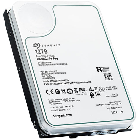 Seagate BarraCuda Pro ST12000DM001 12TB 7.2K RPM SATA 6Gb/s 512e 3.5in Recertified Hard Drive - Product Image