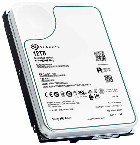Manufacturer Recertified 12TB HDD 2JL101-500