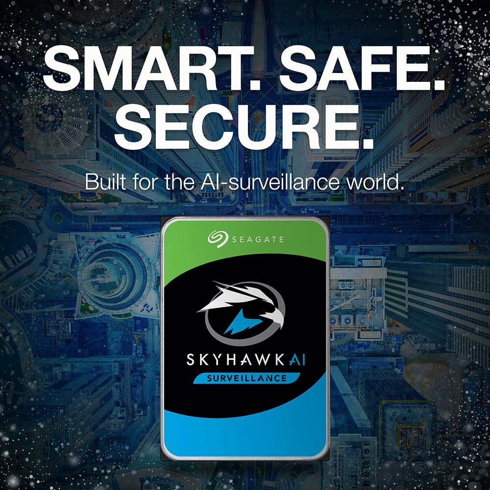 Seagate SkyHawk Surveillance ST12000VX0007 12TB 7.2K RPM SATA 6Gb/s 512e 3.5in Recertified Hard Drive - Smart. Safe. Secure.