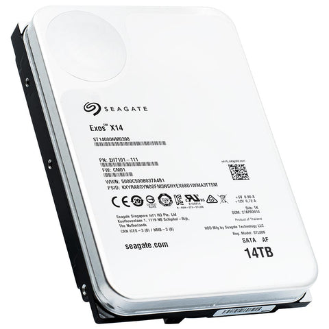 Seagate Exos X14 ST14000NM0398 14TB 7.2K RPM SATA 6Gb/s 512e 3.5in Hard Drive - Product Image