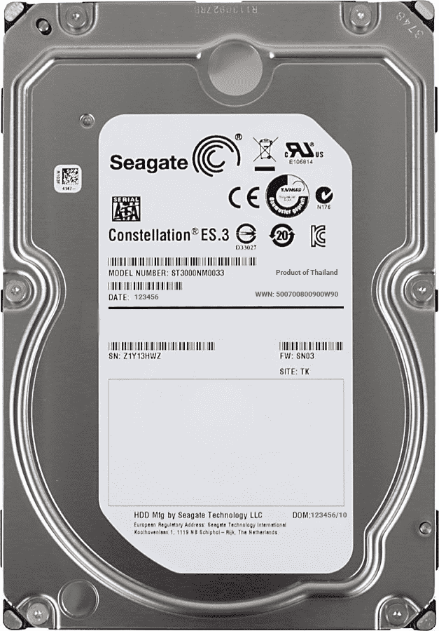 "Seagate Constellation ES.3 ST3000NM0033 3TB 7.2K RPM SATA 6Gb/s 512n 128MB 3.5"" Manufacturer Recertified HDD"