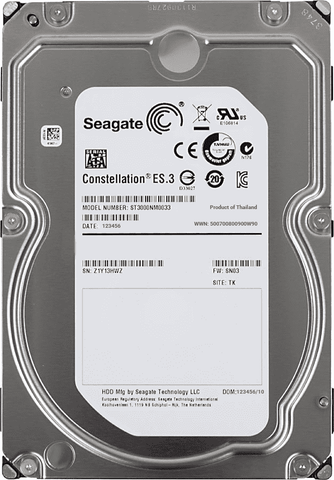 "Seagate Constellation ES.3 ST3000NM0033 3TB 7.2K RPM SATA 6Gb/s 512n 128MB 3.5"" HDD"