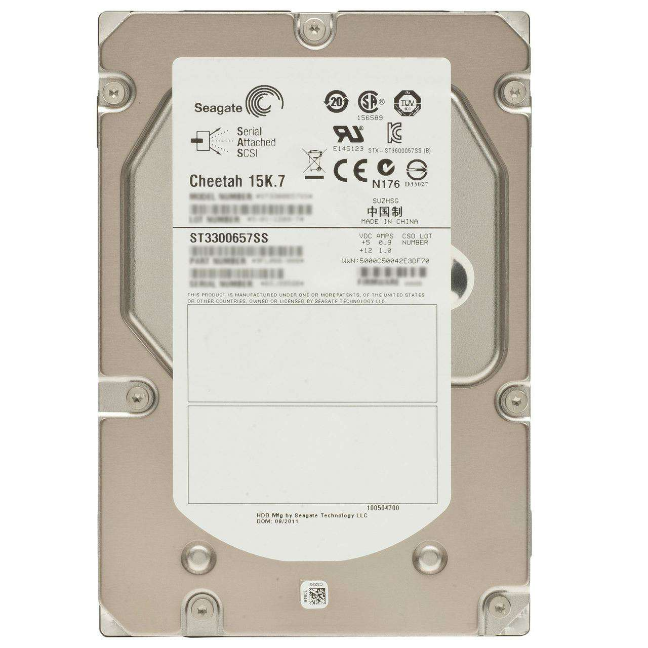 "Seagate Cheetah ST3300657SS 300GB 15K RPM SAS 16MB 3.5"" Manufacturer Recertified HDD"