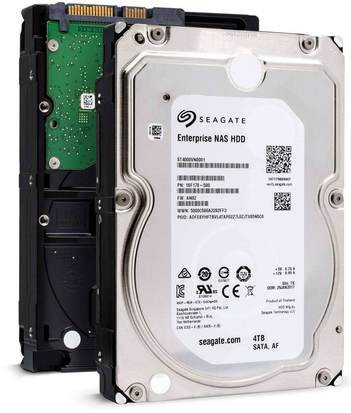 "Seagate Enterprise NAS ST4000VN0001 4TB 7.2K RPM SATA 6Gb/s 512e 256MB 3.5"" NAS Manufacturer Recertified HDD"